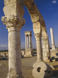 The Tetrastyle in City Centre Seen Through Street Arcades, Umayyad Anjar, Lebanon, Middle East Photographic Print by Fred Friberg