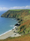 Coastline, Lantic Bay, Near Fowey, Cornwall, England, UK Photographic Print by John Miller