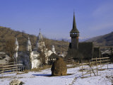 Churches in Maramuresh (Maramures), Romania, Europe Photographic Print by Liba Taylor