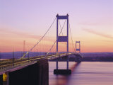 Old/First Severn Bridge at Dusk, Avon, England Photographic Print by Roy Rainford