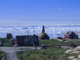Town of Ilulissat, Formerly Jacobshavn, West Coast, Greenland, Polar Regions Photographic Print by Robert Harding