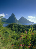 The Pitons, St.Lucia, Caribbean Photographic Print by John Miller