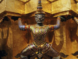 Temple Figure, Grand Palace, Bangkok, Thailand, Asia Photographic Print by John Miller