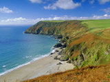 Lantic Bay, Near Fowey, Cornwall, England,UK Photographic Print by John Miller