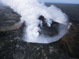 View of Active Volcano from Helicopter, Big Island, Hawaii, Hawaiian Islands, USA Photographic Print by Alison Wright