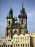 Tyn Church, Old Town Square, Prague, Unesco World Heritage Site, Czech Republic, Europe Photographic Print by Liba Taylor