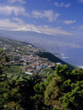 Aerial View Including Mount Teide and Atlantic Coast, Tenerife, Canary Islands, Atlantic, Spain Photographic Print by John Miller