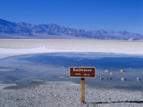 Salt Flats Badwater Death Valley, California, Nevada, USA Photographic Print by Nigel Francis