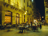 Cafes at Night, Place d'Etoile, Beirut, Lebanon Photographic Print by Alison Wright