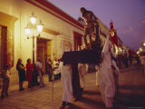 Easter Procession, Oaxaca, Mexico, Central America Photographic Print by Liba Taylor