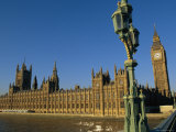 The Houses of Parliament from Westminster Bridge, London, England, UK Photographic Print by John Miller