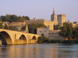 Pont St. Benezet Bridge and Papal Palace, Avignon, Provence, France, Europe Photographic Print by John Miller