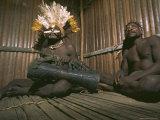Asmat Tribesmen, Irian Jaya (West Irian) (Irian Barat), New Guinea, Indonesia, Asia Photographic Print by Claire Leimbach