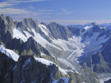 Mont Blanc Range Near Chamonix, French Alps, Haute-Savoie, France, Europe Photographic Print by Roy Rainford