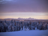 Sunset on Grand Tetons from Two Tops, West Yellowstone, Montana, USA Photographic Print by Alison Wright