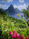 The Pitons, St. Lucia, West Indies Photographic Print by John Miller
