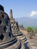 Buddhist Temple, Borobodur (Borobudur), Java, Indonesia Photographic Print by Robert Harding