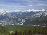 View from Sulphur Mountain, Banff, Rocky Mountains, Alberta, Canada, North America Photographic Print by Rob Cousins