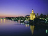 Torre Del Oro and Rio Guadelquivir in the Evening, Seville (Sevilla), Andalucia (Andalusia), Spain Photographic Print by Rob Cousins