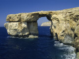 Natural Bridge Close to Dwejra Bay, Gozo, Malta, Mediterranean, Europe Photographic Print by Fred Friberg