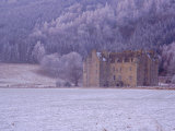 Castle Menzies in Winter, Weem, Perthshire, Scotland, UK, Europe Photographic Print by Kathy Collins