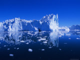Icebergs from the Icefjord, Ilulissat, Disko Bay, Greenland, Polar Regions Fotografie-Druck von Robert Harding