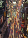 Night Time View of Lights in Times Square in New York, USA Photographic Print by Nigel Francis