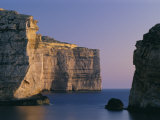 Coastline in the Evening at Dwejra, Gozo, Malta, Mediterranean, Europe Photographic Print by Fred Friberg