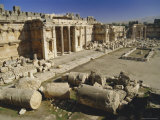 The Great Court in the Acropolis of Baalbek, Archaeological Site, Baalbek, Lebanon, Middle East Photographic Print by Fred Friberg