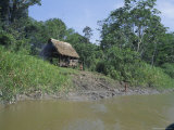 River Bank Settlement, Amazon, Peru, South America Photographic Print by Derek Furlong