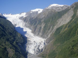Fox Glacier, West Coast, South Island, New Zealand, Pacific Photographic Print by D H Webster