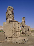 The Colossi of Memnon, Luxor, Egypt, North Africa Photographic Print by Michael Short