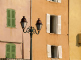 Street Lamp and Windows, St. Tropez, Cote d'Azur, Provence, France, Europe Photographic Print by John Miller