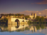 River Rhone, Bridge and Papal Palace, Avignon, Provence, France Photographic Print by John Miller