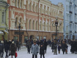 Moscow Street in Winter, Russia Photographic Print by Liba Taylor