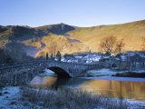 Grange in Borrowdale, Lake District National Park, Cumbria, England, UK Fotografisk tryk af Roy Rainford