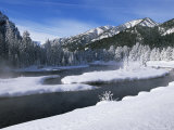 River in Winter, Refuge Point, West Yellowstone, Montana, USA Photographic Print by Alison Wright