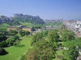 Edinburgh Castle and Gardens, Edinburgh, Lothian, Scotland, UK, Europe Photographic Print by Roy Rainford