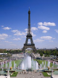 The Eiffel Tower with Water Fountains, Paris, France Photographic Print by Nigel Francis