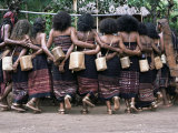 Abui Tribal Warrior Dance, Alor Island, Eastern Indonesia, Southeast Asia, Asia Photographic Print by Alison Wright
