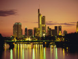 City Skyline at Sunset, Frankfurt-Am-Main, Hessen, Germany, Europe Photographic Print by Roy Rainford