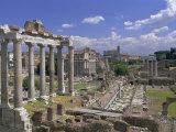 View Across the Roman Forum, Rome, Lazio, Italy, Europe Photographic Print by John Miller