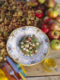 French Bean and Apple Salad with Toasted Hazelnuts Photographic Print by John Miller