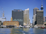 City Ferry Port Terminal and Sky Tower, Auckland, North Island, New Zealand, Pacific Photographic Print by D H Webster