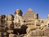The Great Sphinx and the Chephren Pyramid, Giza, Cairo, Egypt, Africa Photographic Print by Nigel Francis