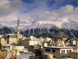 St. Moritz, Upper Engadine, Graubunden Region, Swiss Alps, Switzerland, Europe Photographic Print by John Miller