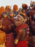 Samburu Dancing, Samburu District, Kenya, East Africa, Africa Photographic Print by Thomasin Magor