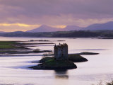 Castle Stalker at Sunset, Loch Linnhe, Argyll, Scotland Photographic Print by Nigel Francis