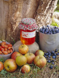 Apple, Sloe and Rosehip Jam and Fruit Photographic Print by John Miller