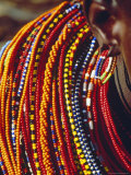 Kenya, Samburu Woman Wearing Decorative Beads Photographic Print by Thomasin Magor